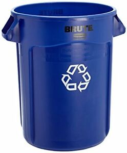 Rubbermaid Commercial BLUE Brute Plastic 44-Gallon Recycling