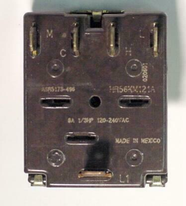 GE ASR5173-496/HR56KM121A 5-POSITION ROTARY SWITCH 8 AMP 31839