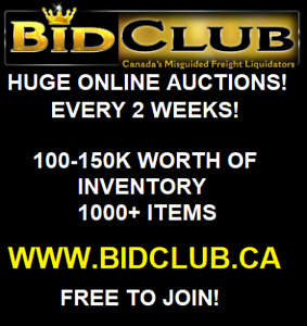 BIDCLUB.CA ONLINE AUCTION WEDNESDAY AUG 1ST 7PM-11PM!!!