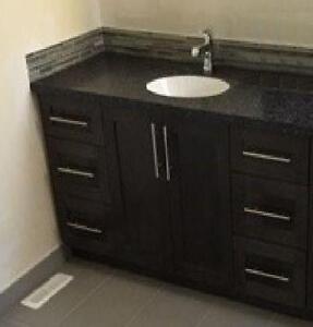 """New - 2 Door, 6 Drawer Sink Vanity Only - 48"""" in 6 colors"""