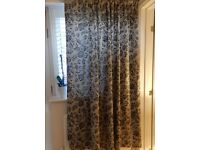 Grey Lined Curtain
