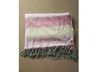 Soft pink striped blanket