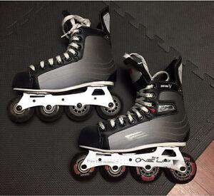 Nike Bauer JR SIZE 5 Vapor rollerblades -Motion V
