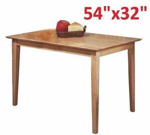 """NEW TAF 54""""x 32"""" WOOD DINING TABLE MAPLE FINISH Dining Room Kitchen Rectangular Table HOME FURNITURE 96110554"""