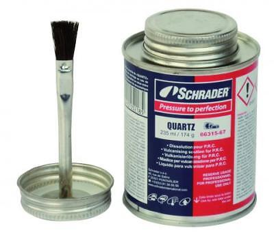 Schrader Vulcanizing Cement Tyre Repair Glue 235ml Tin With Brush