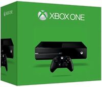 500 gig Xbox one 3 months old with 4 games and play and charge