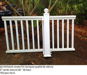 Poteaux de clôture Des Lattes et Capuchons White PVC Fence