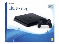 PS4 Slim 500gb Boxed Jet Black (Like Brand New)