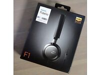 New Philips Fidelio F1 Lightweight On-Ear Headphones With Microphone With Hi-Res Audio
