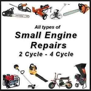 Small engine repairs, lawnmowers, trimmers, etc