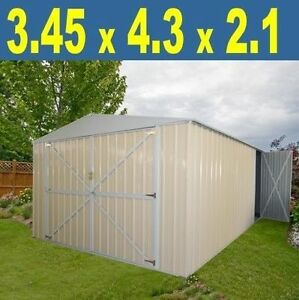 Steel Garden Shed 3.45Wx4.30Dx2.1H Colorbond Primrose BRAND NEW! Castle Hill The Hills District Preview