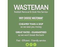 Wasteman Rubbish Removals and grab hire.