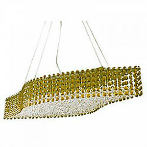 Galaria Ceiling Fixture with Yellow Crystals Chrome Finish