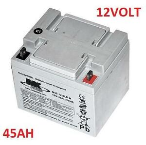 NEW MK POWERED 12VOLT BATTERY 45 Ah 12 Volt M40-12 SLD M AGM Mobility Scooter Battery with L-Terminals 112939160