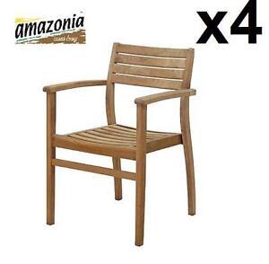 4 NEW AMAZONIA TEK STACKING CHAIRS - 121700699
