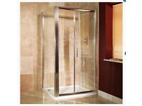 1000mm x 800mm square, slide shower enclosure. Never been used, initially £295