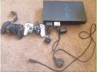PS2 BUNDLE - 2 CONTROLLERS_ all cables and 2 MEMORY CARDS