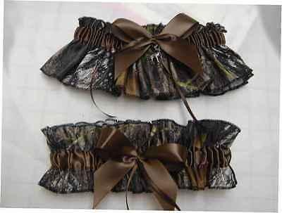 Bridal Garter Set Camouflage Camo MOSSY OAK BREAK UP - Camo Garter Set