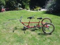 Pashley U plus 2 trailer bike tag-a-long