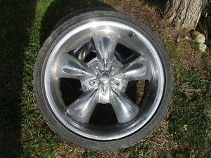 Set of tires and 20'' chrome rims
