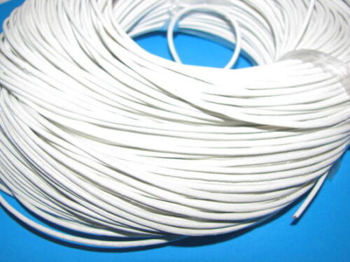 10M WHITE GENUINE LEATHER CORD 2mm///