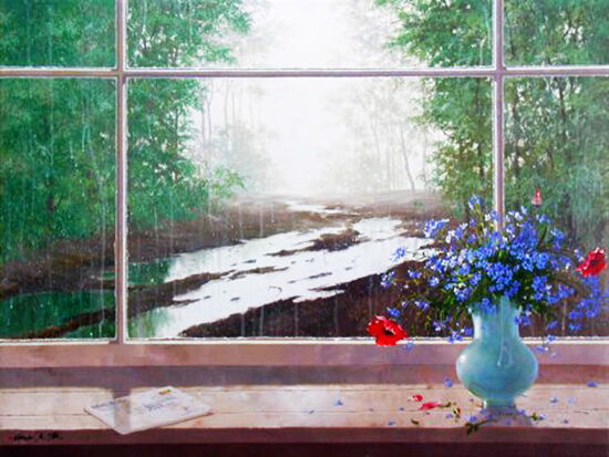 """Michael Gorban """"sun Showers""""   Signed   Giclee/canvas   See Live*   Buy/sell"""