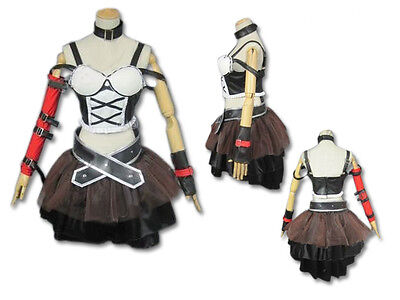 The Melancholy of Suzumiya Haruhi Rocker Costume Cosplay Dress NEW
