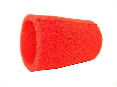 """RACING GO KART RED FOAM PRE FILTER 3"""" x 5""""  PULL OVER AIR FILTER COVER NEW CLONE"""