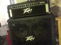 Pro Peavey Bass amp and speaker stack