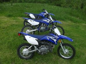 3 Yamaha TTR Dirt Bikes Plus Trailer