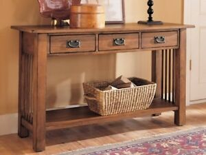 Mission Style Console/Sofa Table