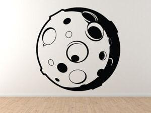 Science Room Kids Cool Cartoon Moon Craters Vinyl Wall Decal - Wall Art Stickers Ebay