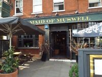 Full & Part time bar staff to join our amazing team at The Maid of Muswell Hill