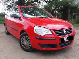 VW Polo 1.2L Red 2006 110,570 miles Petrol 3dr