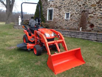 Compact tractor with operator for hire. $50/hr