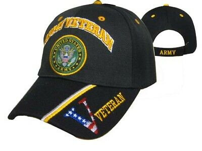 Official US Army Licensed Army Veteran & Emblem Black/Digital Camo Cap Hat