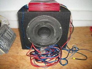 Earthquake sub and amp for car or truck