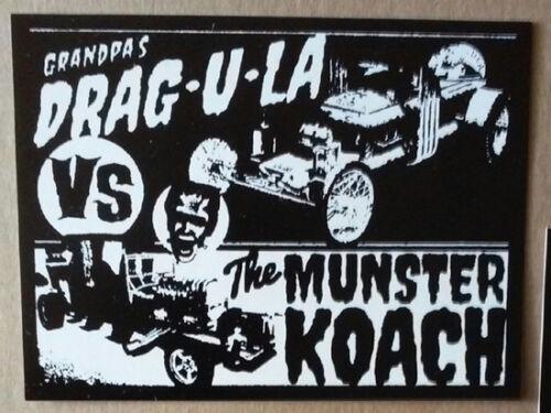 The Munsters STICKER - vinyl - Horror Dragula vs Munster Koach Herman Grandpa