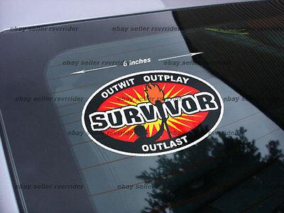 Survivor Sticker Decal Tv Show  Free Shipping
