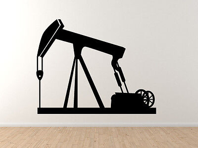 Industrial  9   Oil Natural Gas Well Petroleum Rig    Vinyl Wall Decal Art