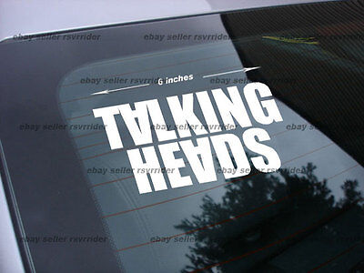 talking heads rock band decal sticker
