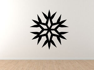 Snowflake-Pattern-7-Winter-Art-Christmas-Decoration-Vinyl-Wall-Decal-Decor