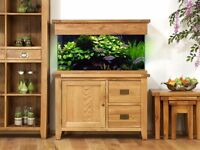 AquaOak 110cm Doors and Drawers Aquarium