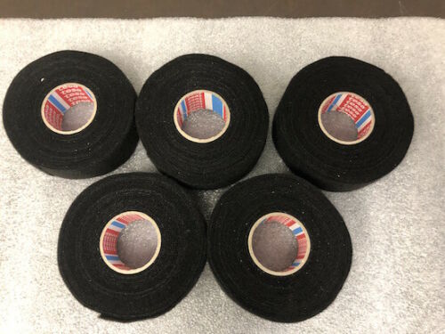 LOT OF 5 TESA 51616 FLEECE AUTO HARNESS ADHESIVE ELECTRICAL TAPE 32mm x 7.5m