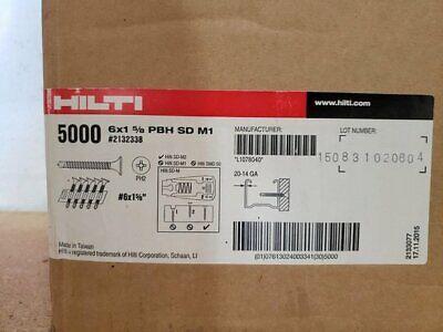 New Hilti Pbh Sd M1 - Drywall Screw 6x1-58 Pbh Sd M1 2132338 5000 Pcs 6 X