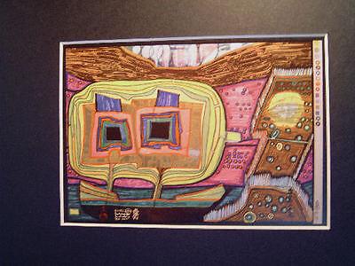 Hundertwasser - THE TREES ON BOARD OR THE REGENTAG