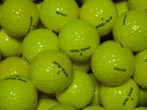 50-BRAND-NEW-OPTIC-TOUR-GOLF-BALLS-YELLOW