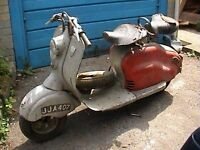 Lambretta LD150 for sale. Stored for years, great renovation scooter.
