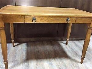 CLEARANCE ITEM!  Solid Oak Desk with drawer