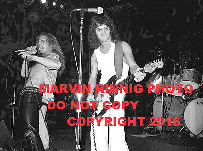 "VAN HALEN-EDDIE VAN HALEN PHOTO 1976 8x11"" RARE @ WHISKY A GO GO SUNSET STRIP"